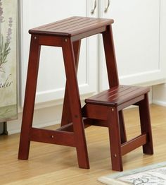 Kitchen Step Stool , With 1 More Step Placed In The Middle Of Step And  Seat. | Make It... | Pinterest | Kitchen Step Stool, Stools And Middle
