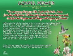 Gospel Power OT 11C – Saturday