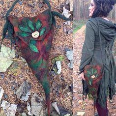 The 'Forest Sprite' Woodland Faerie Bag Felted LARP