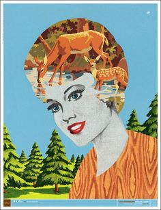 my brain kinda looks like this AIGA Minnesota - Design Camp Poster Graphic Design Illustration, Graphic Art, Illustration Art, Minneapolis, Minnesota, Oh Deer, Creative Posters, Vintage Design, Illustrations