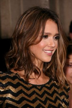 My hair length- nice beach waves and maybe this is an ombre/balyage color?