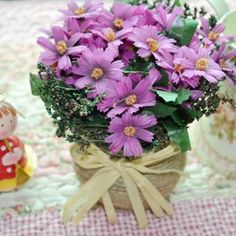 $3.79 purple artificial flower with basket case from zzkko.com