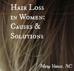 Causes of and natural, holistic solutions for hair loss and thinning hair in women.