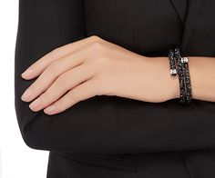 14 Bracelets - Crystal Dust Bangle ideas | double bangle ...