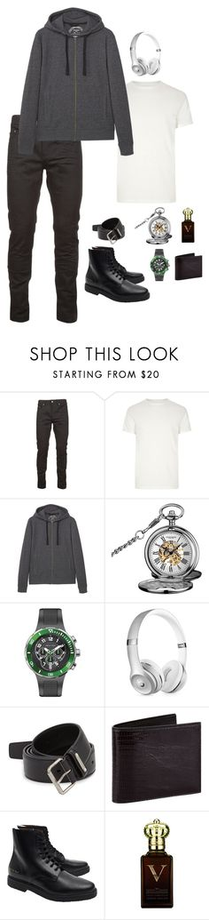"""""""Julien Garmadon"""" by carlisafights ❤ liked on Polyvore featuring Yves Saint Laurent, River Island, MANGO MAN, Akribos XXIV, Philip Stein, Beats by Dr. Dre, Tom Ford, Common Projects, Clive Christian and men's fashion"""
