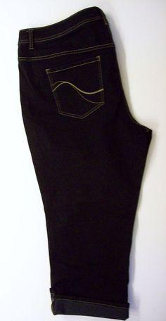 694f7ca80e4 Lane Bryant Size 24 Genius Fit Crop Capri Jeans Dark Wash Denim  LaneBryant   CapriCropped