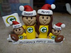 Custom Family Sports Ornament by ClayCreationsbyLaura on Etsy, $40.00