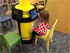 Crayon Kiosk ipad stand Library