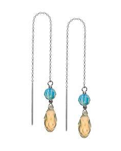 """5"""" Sterling Silver Bling Strings Threader Earrings"""