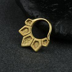 Μύτη βέλη διαφράγματος Ring Ring σώματος Κοσμήματα 925 στερεό Black Rhodium, Bohemian Jewelry, Rose Gold Plates, Body Jewelry, Septum Ring, 18k Gold, Gold Rings, Fashion Jewelry, Sterling Silver