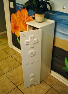 Wii remote storage. Found on Etsy but source link is no longer available