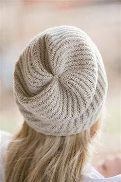"""Go There Now Designer Grace Akhrem Finished Size 20"""" brim circumference and 10"""" tall. Yarn Cascade Yarns Heritage Silk (85% merino wool, 15% silk; 437 yd [400 m]/3 1/2 oz [100 g]), #5681 limestone, 1 hank. Needles Size 3 (3.25 mm): 16"""" circular (cir) and set of double-pointed (dpn). Adjust needle size if necessary to…"""