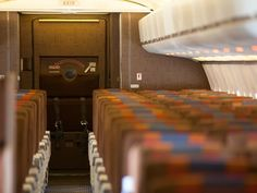 The decidedly retro interior of the first Boeing 727