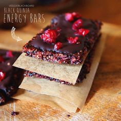 Gluten Free, Black Quinoa, Berry & Chia Seed Energy Bar with Cranberries & Chocolate