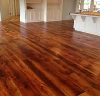 Barn wood floor made from siding of an 1860's barn