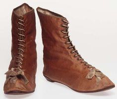 Women's Ankle Boots Silk and leather.Though often portrayed as unskilled and illiterate, convict women brought over 200 trades with them, and had literacy levels very similar to those of English and Irish immigrant women. Occupations included working as dairymaids, weavers, lace-makers, seamstresses, teachers and fishing-net makers. In the area of shoes alone, the trades included bootmaker, bootbinder, boot closer and boot corder.