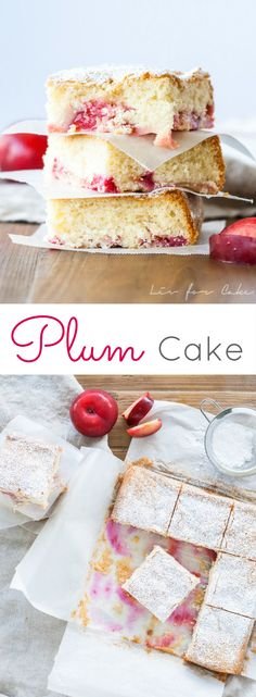 This easy and delicious plum cake is the perfect dessert for summer! Can be made with any stone fruit. Summer Desserts, Easy Desserts, Delicious Desserts, Yummy Food, Plum Desserts, Pavlova, Cupcakes, Cupcake Cakes, Fruit Cakes