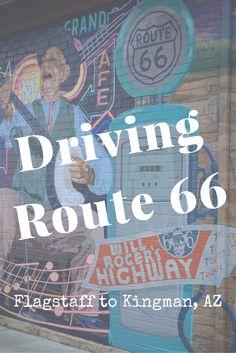Driving Route 66 From Flagstaff, AZ to Kingman, AZ                                                                                                                                                                                 More