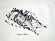 Snow Speeder Concept: Ralph McQuarrie Conceptual drawing of the Snow Speeder for The Empire Strikes Back. ★ || CHARACTER DESIGN REFERENCES (https://www.facebook.com/CharacterDesignReferences & https://www.pinterest.com/characterdesigh) • Love Character Design? Join the #CDChallenge (link→ https://www.facebook.com/groups/CharacterDesignChallenge) Share your unique vision of a theme, promote your art in a community of over 25.000 artists! || ★