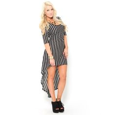Vertical Stripe High Low Dress $22