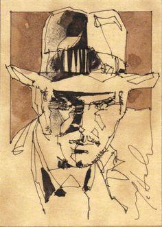 Indiana Jones Sketch Art by Mark McHaley