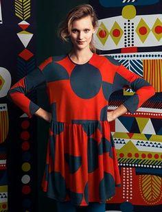 Marimekko A/W 2014 Finland Marimekko, Fashion Tag, Runway Fashion, Vivienne Westwood Anglomania, Office Dresses, Signature Style, Summer Collection, Catwalk, Autumn Fashion