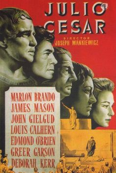 JULIUS CAESAR (1950) - Marlon Brando - Directed by Joseph L. Mankiewicz - MGM - Movie Poster.