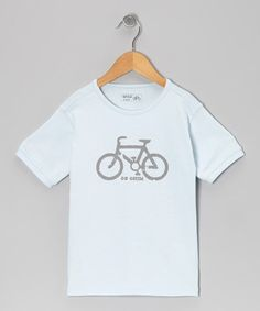 Take a look at this Light Blue Bicycle Tee - Infant  Toddler by Wheat on #zulily today! Please check out World of Cycling