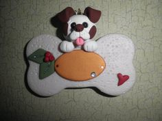 Hey, I found this really awesome Etsy listing at http://www.etsy.com/listing/170824021/polymer-clay-dog-personalized-white-with