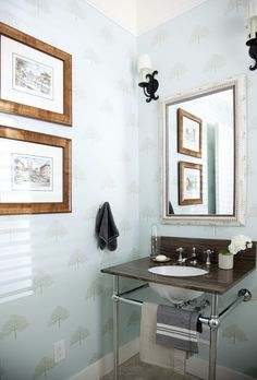 Soft Blue Powder Room | Photo Gallery: Powder Rooms | House & Home | Photography Michael Graydon