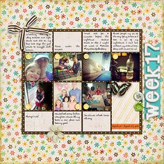 Using Tracie Stroud's Capture Life: May Kit and Weekly Project Templates 5 by Scrapping with Liz