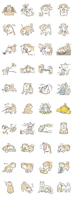 This is mischievous Shiba-Puppy sticker. She plays lively, sleeps well, and get along with her family. Please treat her! Shiba Inu, Shiba Puppy, Dog Illustration, Character Illustration, Kawaii Drawings, Cute Drawings, Sleeping Drawing, Puppy Drawing, Sleeping Puppies