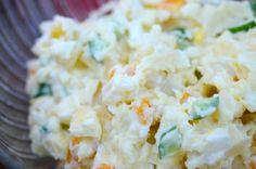 Korean Potato (Gamja/Kamja) Salad - often served as banchan(side dish) in Korean BBQ restaurants. Great side dish to Korean BBQ meats! | Kimchimari.com