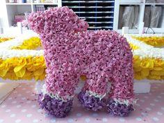 Lammetje met bloemen bekleed