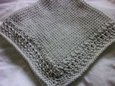 Hand Knit Baby Blanket in a tunisian stitch pattern by DarellaBaby