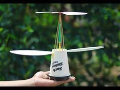 DIY Rubber Band Plane - How to Make a Rubber Band Plane - YouTube
