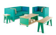 Áreas de descanso en los centros de trabajo con colores y diseños que recargan todas las buenas energías! #MoberTeAyuda