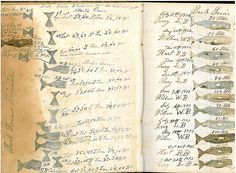 """CHARLES HENRY WILBUR'S RECORD BOOK OF WHALES SEEN AND WHALES TAKEN BY THE SHIP """"YOUNG PHOENIX"""" AND THE BARK """"SEINE,"""" 1872-1875. 