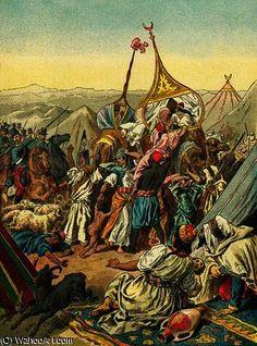 Capture de la tribu de Abd El Kader de Frederic Theodore Lix (1830-1897, France)