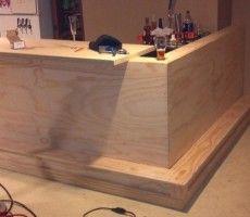 How to build a home bar   Furniture Plans   Pinterest   Bar ...