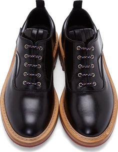 Krisvanassche: Black Leather Oxfords | SSENSE