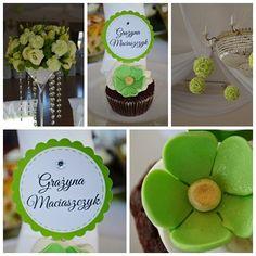 Babeczki winietki zielono - złote - Słodka Pracownia - Przepisy | Dekoracje | Przyjęcia