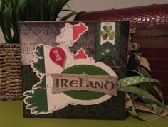 Ireland mini scrapbook. *** NOTE: This listing is for a MADE TO ORDER Ireland scrapbook. Your scrapbook will be made with the same sticker set but the papers and other embellishments may differ from the photo. Since I will be making this scrapbook AFTER you purchase, feel free to