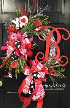 Glitzy Initial Valentine Wreath