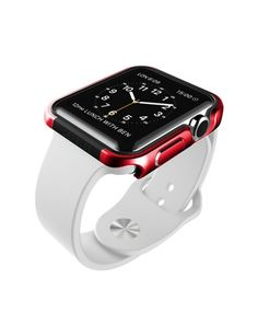 For Apple Watch 42mm Metal Frame Case ( Red )