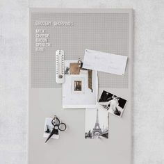 Monograph Grid Letter/Magnet Board Stylish, contemporary notice board ideal for office or kitchen. Use the letter board to leave messages and magnets House Doctor, Memo Boards, Retro Chic, Doctor Light, Interior Design Presentation, Metal Grid, Van Home, Cute Notes, Black Letter