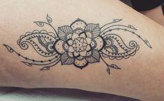 Mandala legs girlstattoo