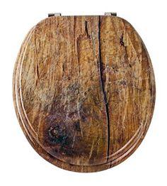 EISL Rustic EDRU01 Toilet Seat MDF Wooden Core