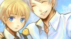 Prussia and young Germany :) ~Hetalia