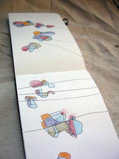 4 colour moleskin pages